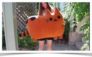 Подушка-кошка своими руками