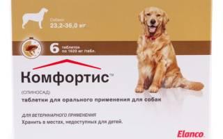 Состав препарата таблетки Комфортис от блох